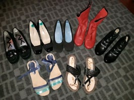 Size 8 Lot of shoes- pls message in which ur interested prices vary