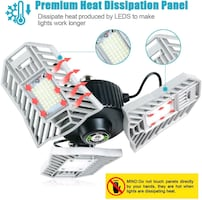 Deformable LED Garage Light 6000LM BRIGHT NEW IN BOX ½ PRICE