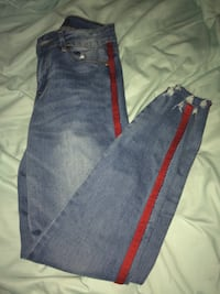 Blue jeans with red stripe size 5 Kelowna, V4T 1S1