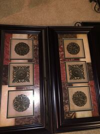 three brown wooden framed paintings Visalia, 93291