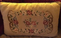Needle point accent pillow Schenectady, 12303