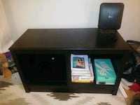 black wooden TV stand with flat screen television West Springfield, 22152