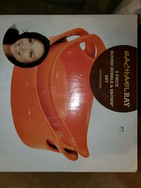 Rachael Ray 2 piece round bubble & brown set