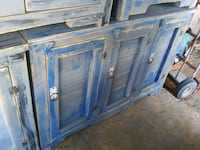 blue and brown wooden cabinet Albuquerque, 87102