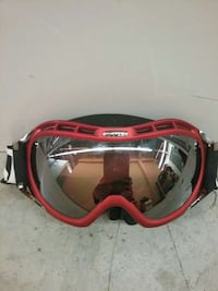 red and black snow goggles North Vancouver, V7M 1G4
