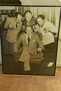 Three Stooges & Harry Cohn photograph.  Crack in Fairfax, 22030