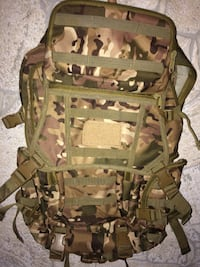 Camouflage heavy duty backpack
