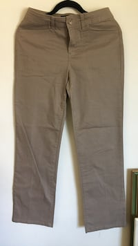Brown straight-cut jeans-4 Womens