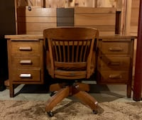 Vintage Editor's Desk and Chair Springfield