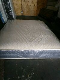 white mattress with black wooden bed frame Opa-locka, 33054