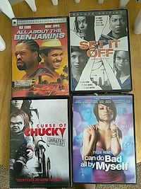four assorted DVD cases