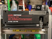 Craftsman air inflator compressor 12 volt 210 PSI