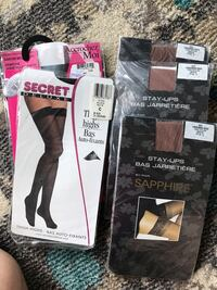 $4 for all,Garter & 3 pairs of stockings size c Uxbridge, L9P 1R4