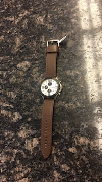 Men's fossil watch with leather band Woodbridge, 22191