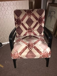 brown wooden frame white and brown padded armchair Columbus, 43228