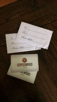 Two $20 gift card to copper wood in one loudoun  10 km