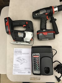 Crenshaw 19.2 volt power tools comes with two 19.2 volt batteries and charger excellent condition  Torrance, 90504