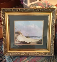 Gold frame ocean picture nice