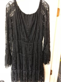 Women's black laced Skully long-sleeved dress Montgomery, 77356