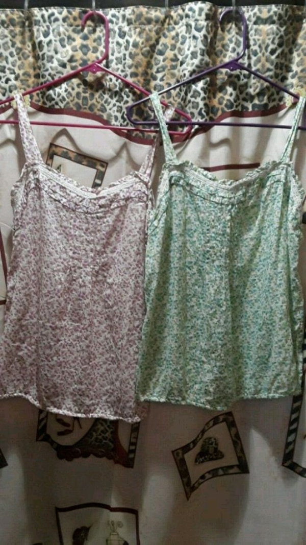 LADIES (M) FLORAL TANKS