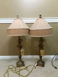 two brown table lamps with white lampshades Mount Olive Township, 07828