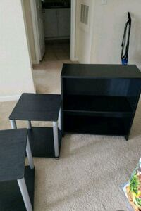 black wooden shelf and two small tables Fairfax, 22030