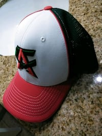 white and red fitted cap Pharr, 78577