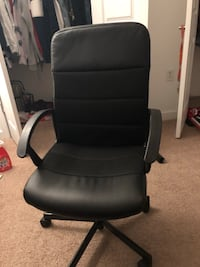 Leather Office Chair Silver Spring