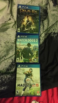 3 Ps4 games in good condition  Streamwood, 60107