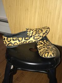 Steven by Steve Madden leopard and gold stud loafers