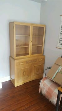 Dutch Glass Cabinet 50's style. Great for living room. New Westminster, V3L 5P1