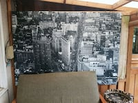 Black and white large canvas picture of old New Yo Calgary, T2T 1K1