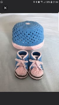 Crochet Baby Hat and Shoes Set  Singapore