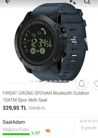 SPOVAN Smart Bluetooth Outdoor 10ATMSpor Akıllı Sa