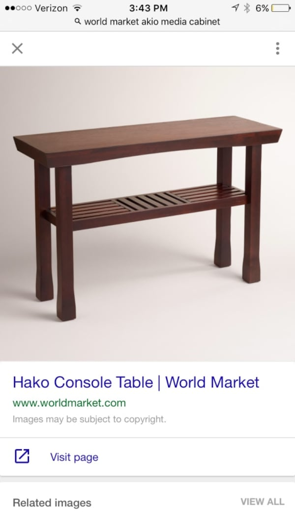 Used Hako Sofa Table By World Market