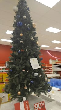 green christmas tree with baubles Waterbury, 06710