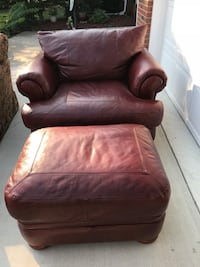 brown leather sofa chair with ottoman Fayetteville, 28314