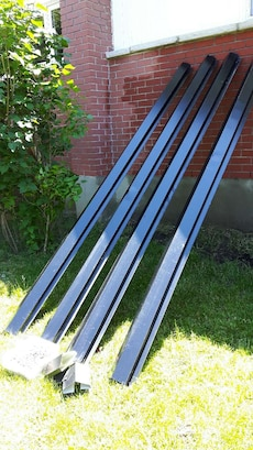 Four 10ft metal roof vents