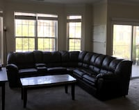 Brown Pleather sectional sofa recliner and pullout bed  Louisville, 40242