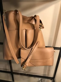 women's brown leather tote bag West Chicago, 60185
