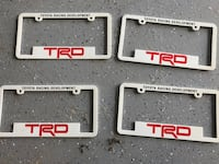 Brand new TRD license plate covers  Oshawa, L1K 2S3