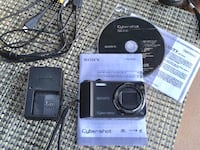 Sony Cyber-Shot Digital Camera - battery charger, memory card etc.