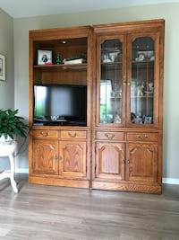 two brown wooden display cabinet Monroe, 08831
