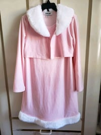 Girl's Pink/White Dress Size 6