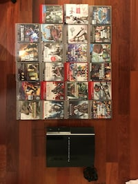 Sony ps3 PHAT console and game cases lot PlayStation