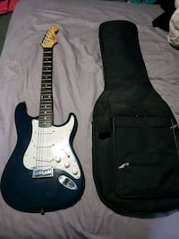 Fender Squire Electric Guitar and case Houston