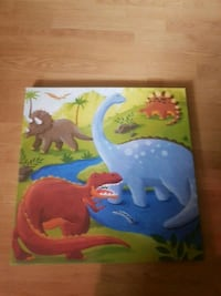 canvas dinosaur picture