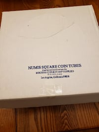 Numis Square coin tubes for Nickles, make offer Centreville