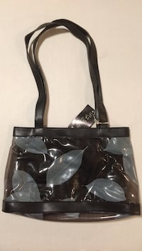Clear and black tote bag Poughkeepsie town, 12590