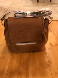 brown leather 2-way bag Brandywine, 20613